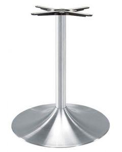 90135 Table Base Brushed aluminum trumpet base