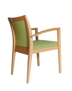 CELINE-ARM-M12CE Stacking Arm Chair