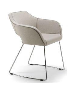 Larsen Arm Chair Sled Base